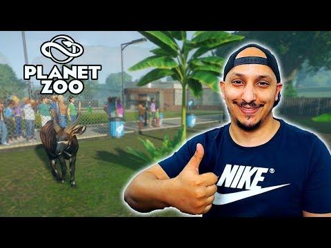 عالم الحيوان | تأسيس المدخل الرئيسي والمرافق العامة Planet Zoo