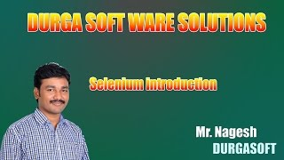 Selenium introduction by Nagesh