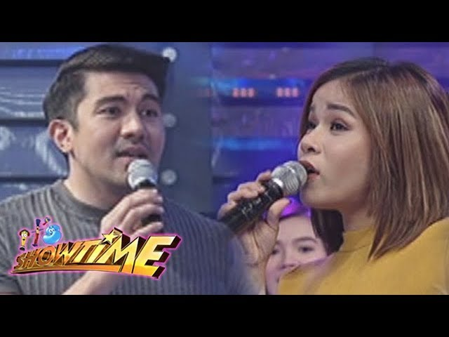 It's Showtime Cash-Ya: Luis and Klarisse in a singing showdown