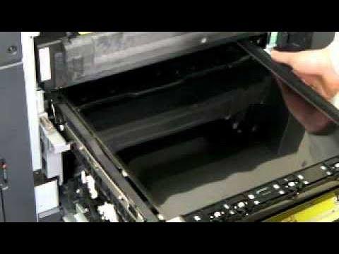 How to remove a transfer balt On Konica Minolta bizhub C220/C280/C360