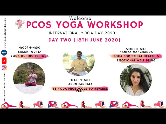 PCOS CLUB INDIA- YOGA workshop- Day 2