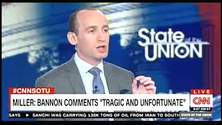 Stephen Miller explodes on CNN during fiery interview with Jake Tapper