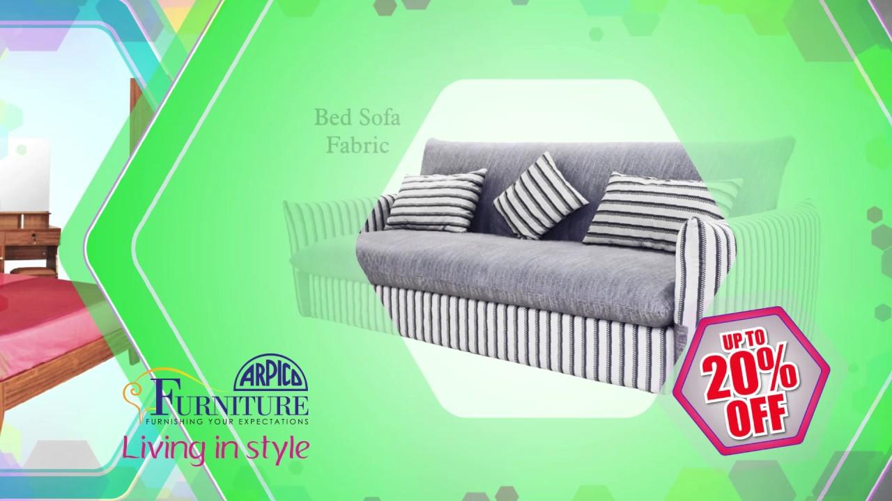 Arpico Furniture Bedroom items for installmets