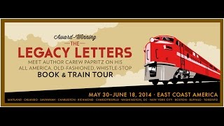 Carew Papritz's  first-ever, modern, whistle-stop book tour by train