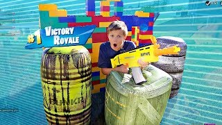 Fortnite NERF BLASTER Battle Royale!