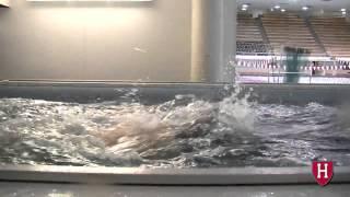 Harvard Mens Swimming Training in an Elite Endless Pool