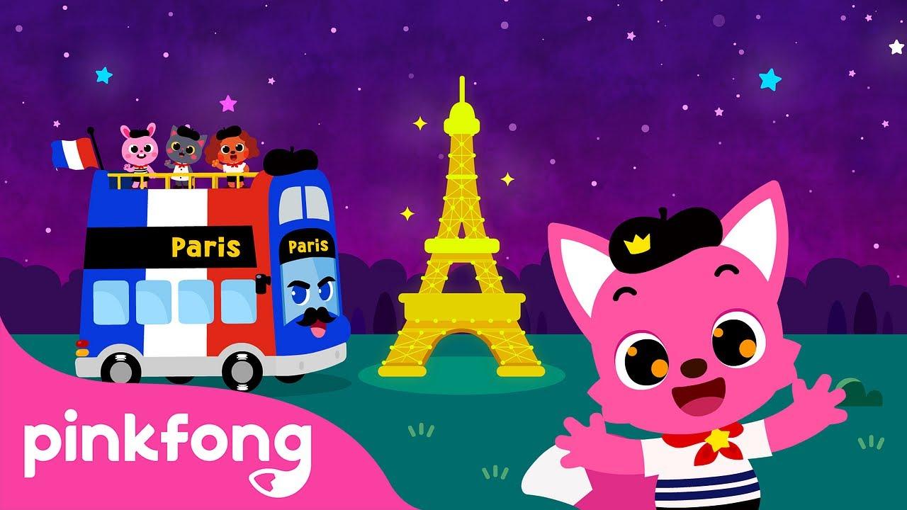 Tour de Ônibus em Paris | Canções de Ônibus | Pinkfong Canções para Crianças