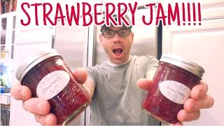 Homemade Strawberry Jam Without PECTIN Video- Easy DIY Strawberry Jam Recipe