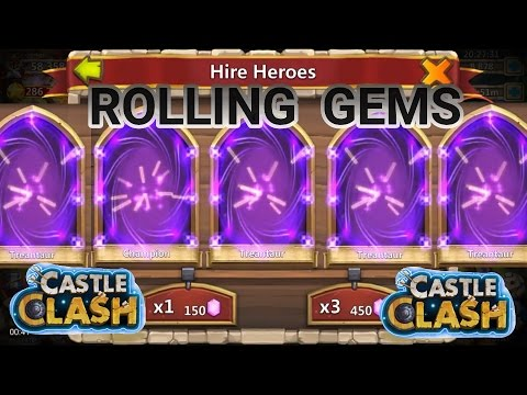 30K F2P Gems Hire Heroes And Win Castle Clash
