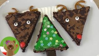 Murzynki świąteczne 🎄 prosty pomysł na udekorowanie Brownies, choinka i renifer