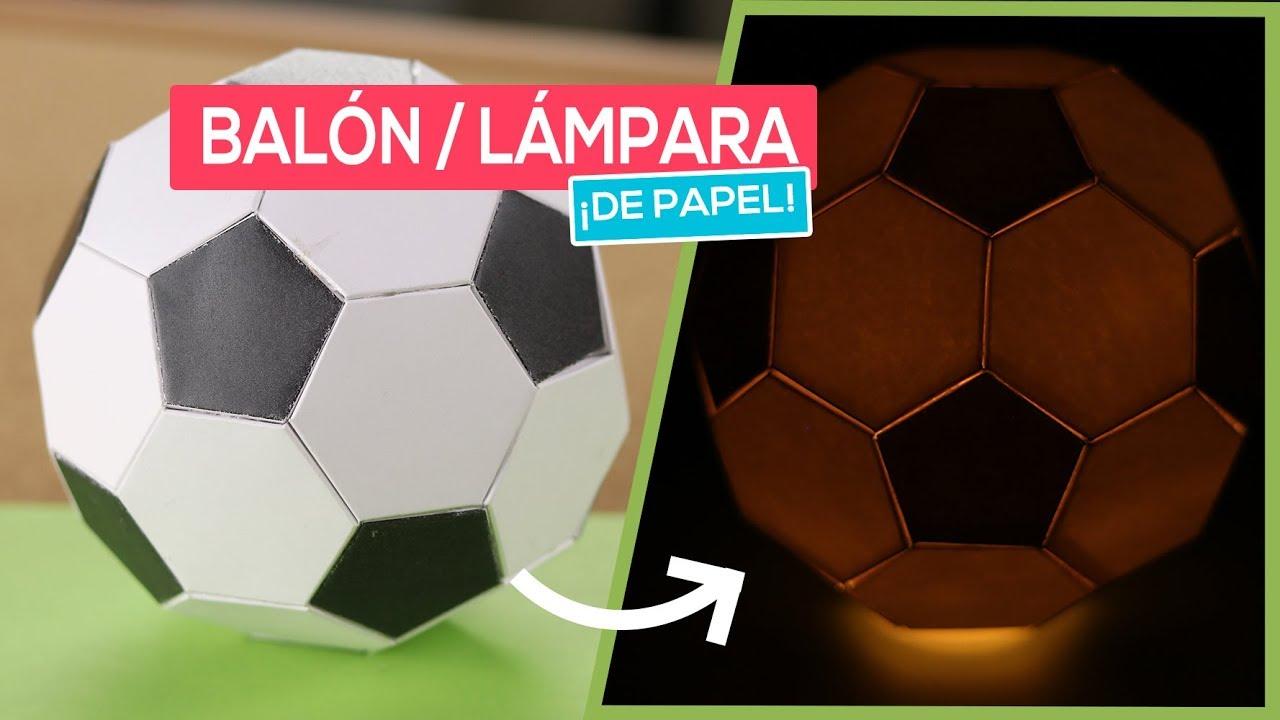 Cómo Hacer Un Balón De Fútbol Lámpara De Papel Diy Imprimibles