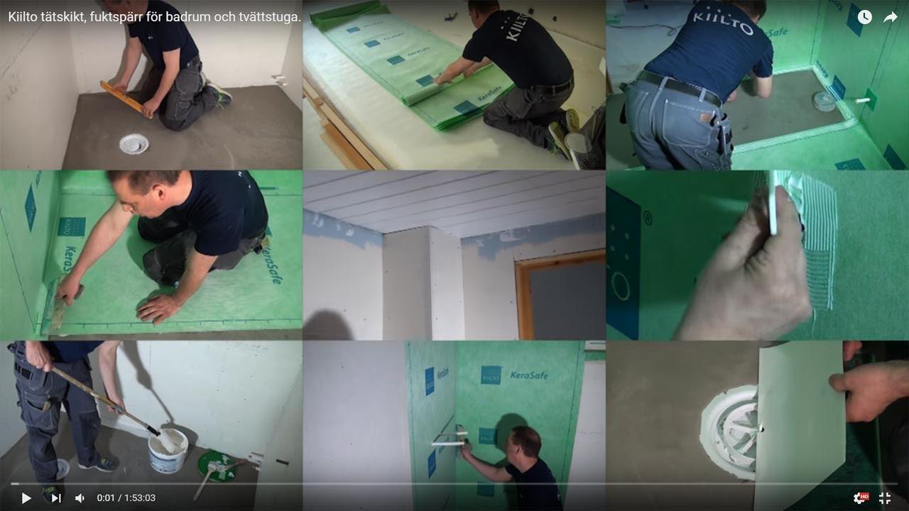 Inredning tätskikt våtrum : Kiilto tätskikt, fuktspärr för badrum och tvättstuga. - YouTube