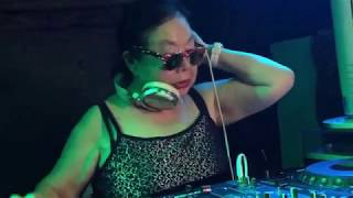 82-year-old DJ Sumirock plays a set at a club in Tokyo