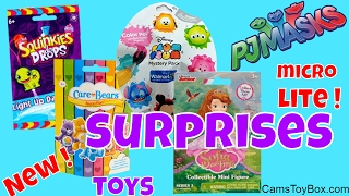 Blind Bags Opening PJ Masks Micro Lite Squinkies Do Drops Care Bears Neon Sofia the First Disney Tsu
