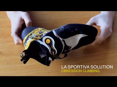 c6ef35cd71 Review  La Sportiva Solution climbing shoe - YouTube