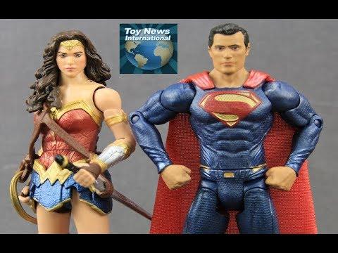 """Justice League Movie DC Comics Multiverse 6"""" Superman & Wonder Woman Figures Review"""