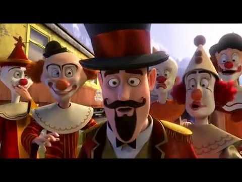 Vidéo Madagascar-3- patron de cirque (accent)