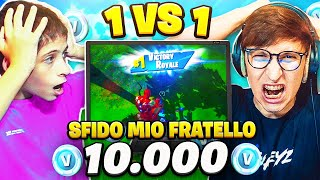 SFIDO MIO FRATELLO su FORTNITE in 1vs1 per 10.000 V-BUCKS!! 🤯 FORTNITE ITA
