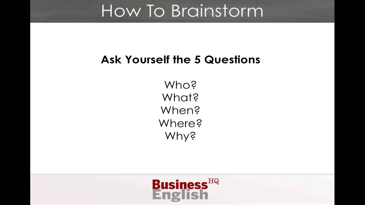 3 ways to brainstorm for an essay Brainstorming with young children is often a shared home / all posts / brainstorming / brainstorming with 5- to 8-year-olds 3 ways to brainstorm with.