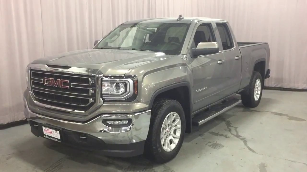 2017 gmc sierra 1500 sle 4wd double cab z71 suspension pepperdust oshawa on stock 170912 youtube. Black Bedroom Furniture Sets. Home Design Ideas