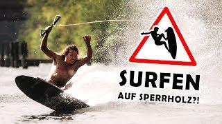 SURFEN auf SPERRHOLZ?!   DIY Wakeboard bauen mit den Profis!