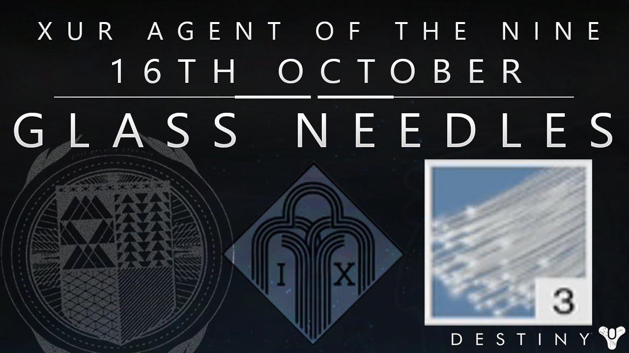 destiny how to get glass needles