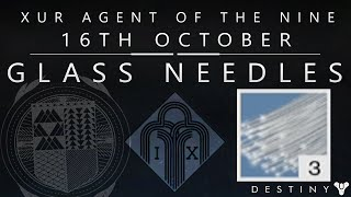 Destiny: Glass Needle / Twist Fate Exotic Armor Reforge Test - Xur Location & Loot / October 16th