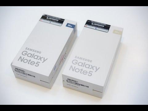 Trên tay Samsung Galaxy Note 5 Chính hãng