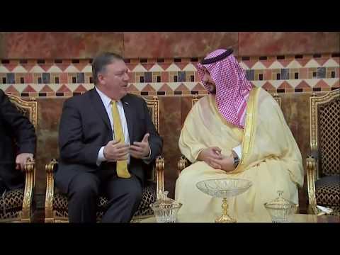 Secretary of State Mike Pompeo Meets with Saudi King Salman bin Abdulaziz Al Saud
