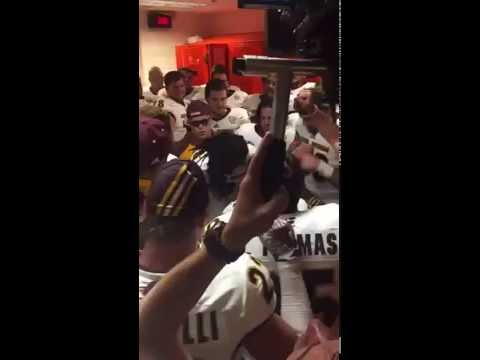 Central Michigan Football Locker Room - Fight Song Post Oklahoma State Win