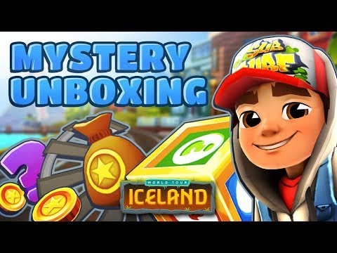 💰 Subway Surfers Mystery Unboxing - Opening Mystery Boxes in Iceland (Easter)