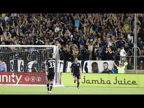 GOAL: Alan Gordon heads in the game winner | San Jose Earthquakes vs LA Galaxy