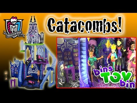 Monster High Catacombs HUGE Castle Playset Review!! by Bin's Toy Bin