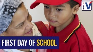 WATCH: Parents face tearful goodbyes as first graders start school