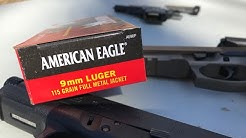 9x19mm, 115gr FMJ (AE9DP), American Eagle Review
