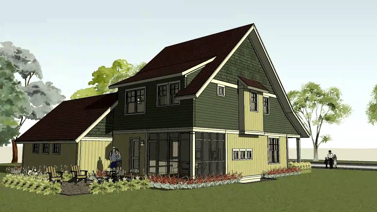 Simple bungalow craftsman home plan small house plan - What is a bungalow house ...