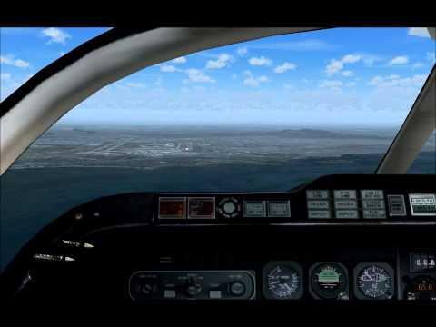 Beechjet landing Dorval