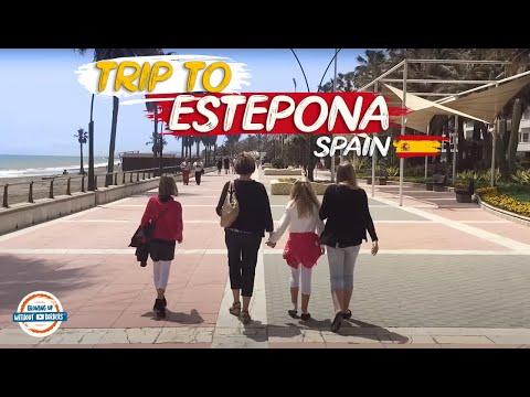 A walk through Estepona Spain along the Mediterranean Sea