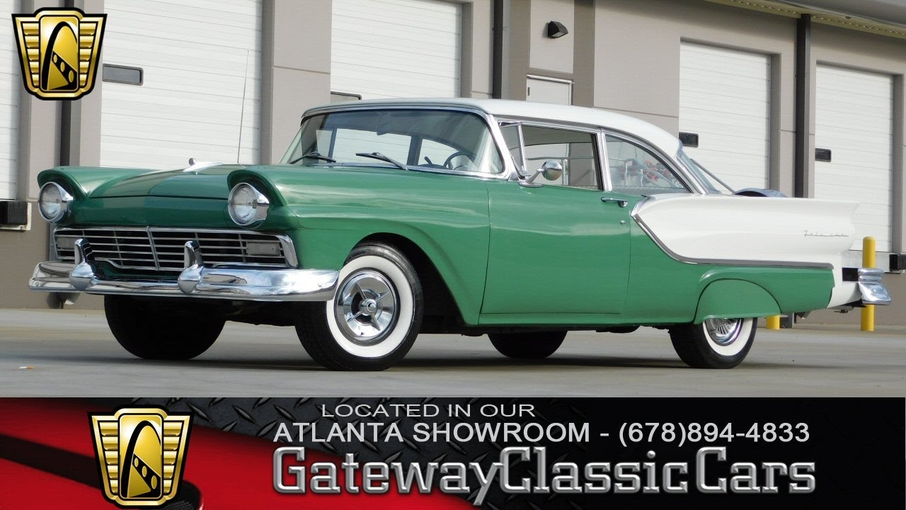 1957 Ford Fairlane Club Sedan - Gateway Classic Cars of Atlanta #151 - YouTube