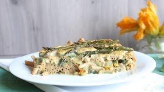 Pasta al forno light con asparagi e zucchine - 100% vegetale