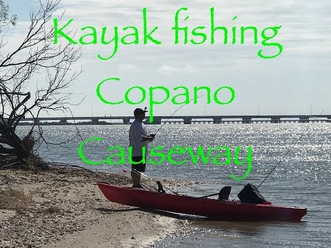 Rockport TX Kayak Fishing, Copano Causeway.
