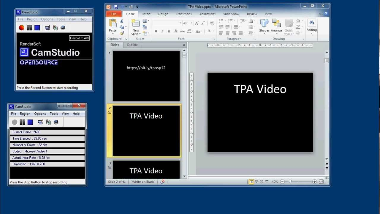 how to create a record a presentation with powerpoint
