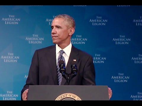 President Obama Addresses The American Legion