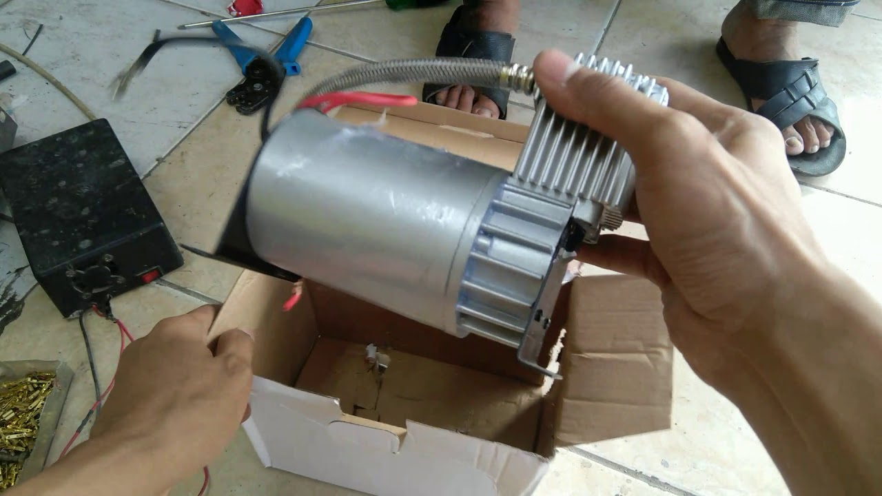 Tes Motor Kompresor Angin Telolet 12volt Youtube