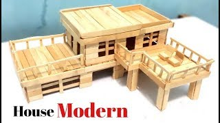 Cara Membuat Miniatur Rumah Modern Dari Stik Es Krim