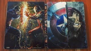 CAPTAIN AMERICA: CIVIL WAR - 3D + 2D Steelbook Blu-ray Limited Edition Unboxing [UHD]
