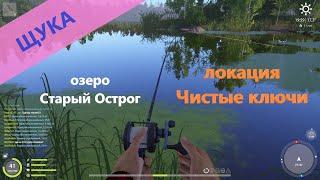 Русская рыбалка 4 озеро Старый Острог Щука на грызунов