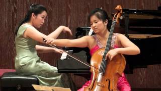 2013 Grace Ho cello Recital (part 5) 何美恩 - Encore  Dvorak Humoresque Cello and Piano