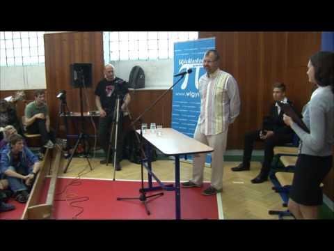 Návštěva MUDr. Bohdana Pomahače na Wichterlově gymnáziu, 3. 6. 2013