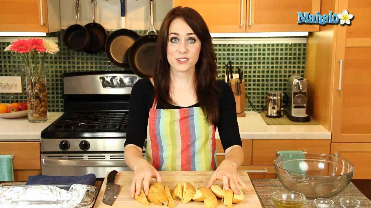 how to cut sweet potato wedges youtube